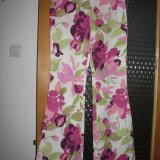 Pantaloni de vara - Pantaloni dama, Lungi, Crem