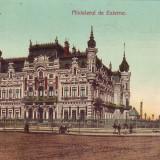 Romania,Bucuresti,carte postala UPU circulata 1908: Ministerul de Externe,animat