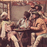 Romania Salutari, carte postala UPU circulata 1907, TCV: Tarani in carciuma, Fotografie