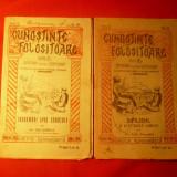2 Brosuri din Colectia - CUNOSTINTE FOLOSITOARE 1922-'24 - Carte de aventura