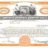 259 Actiuni -BELDING HEMINWAY COMPANY, INC. -seria NU17470