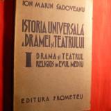 Carti Istoria bisericii - I.Marin Sadoveanu - Drama si Teatrul Religios in Ev Mediu1942