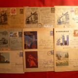 9 Plicuri Postale Ilustrate - Intreg -Industrie si Agricultura - Plic Papetarie