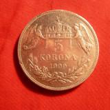 5 Koroane Ungaria, 1900, Fr. Iosef, argint 900/1000