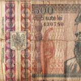 BANCNOTA 500 LEI CONSTANTIN BRANCUSI DECEMBRIE 1992
