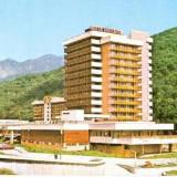 """CP208-24 Judetul Valcea. Cozia: Hotelul,, Caciulata"""" -carte postala circulata 1988 -starea care se vede"""