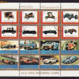 Ajman serie stampilata de masini coala mica de 16 buc., S 13 - Timbre Romania