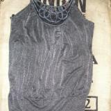 SUPER PRET ! Rochie/bluza/tunica argintie dama Dorothy Perkins noua Sz m/l !, Midi, Cu bretele, Acril