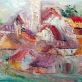 Tablou Gheorghe Mocanu ( 1938 - 1993) - panza, ulei, cutit ( 2 tablouri )