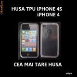 HUSA iPHONE 4S / iPHONE 4 - WHITE TPU CLEAR - CARCASA iPHONE 4S - CARCASA iPHONE 4 - Husa Telefon Apple, iPhone 4/4S