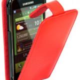 Toc din piele rosie samsung galaxy s i9000 + 9001 expediere gratuita - Husa Telefon
