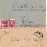 Plic Papetarie - PLIC 2TIMBRATE ;1 PT CLUJ OROSZ IMRE, SI 1 PTBUZIAS NIC, FOLEA 1926, -OCPP 131