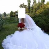 Rochie de mireasa printesa - Rochie de mireasa cu voal