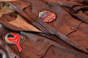 Geaca aviator haina piele maro -WM- marimea 54-XL barbati foto