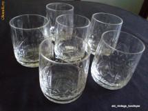 Pahare cristal Boemia gravate manual, anii '80 foto