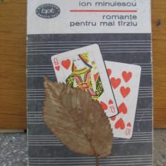 Ion Minulescu - Romante pentru mai tarziu 1967