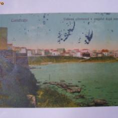 Constanta - Vederea pitoreasca a orasului dupa mare, vedere / ilustrata / carte postala circulata 1936, fara timbru