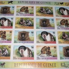 Timbre straine - GUINEEA 2000 WWF - MAIMUTE - KLEINBOGEN - NEUZATE