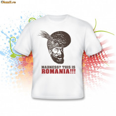 Tricou This is Romania - Tricou barbati, Maneca scurta, Alb, Bumbac