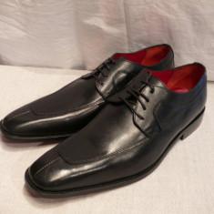 Pantofi barbati, Piele naturala - Pantofi Lord Byron, piele integral, negri, (A7 - 63 BLACK)