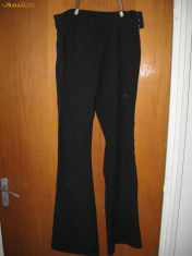 Pantaloni dama, Lungi, Fuchsia - Pantaloni de stofa