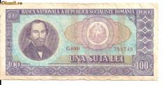 Bancnote Romanesti - LL bancnota Romania 100 lei 1966