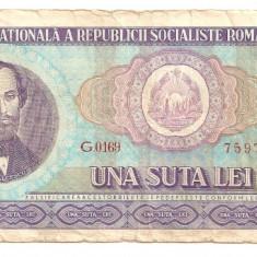LL bancnota Romania 100 lei 1966