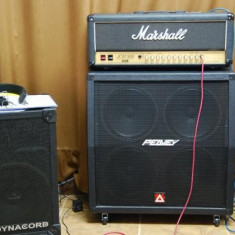HEAD MARSHALL JCM900 100 WATT FULL LAMPA+CABINET PEAVEY 150 WATT CELESTION ORIGINALE - Amplificator audio