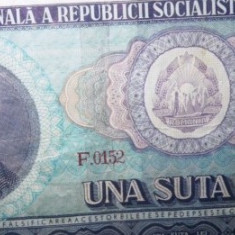 Bancnota 100 Lei 1966 R.S.R.