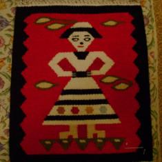 Covor vechi - Covor motiv traditional Tismana Romania Topoloveni original