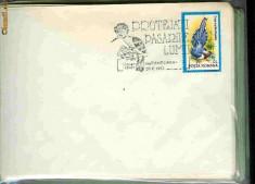 Timbru - Stampila speciala Protejati pasarile lumii, Timisoara 05.06.92, pupaza