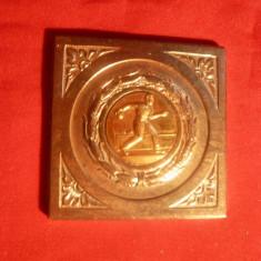 PLACHETA CAMPIONAT DE POPICE - Regiunea Stalin - Medalii Romania