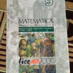 CC4 - MATEMATICA - ALL - CLASA A IX - A - Manual scolar all, Clasa 9