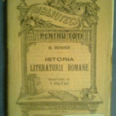 Studiu literar - Istoria literaturii romane