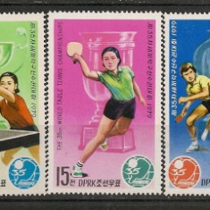 Coreea de Nord.1979 C.M. de tenis de masa ED.254 - Timbre straine