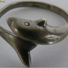 Inel vechi din argint delfin - de colectie (1) - Inel argint