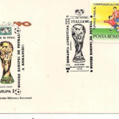 Plic omagial-Romania-L.P. 1237 Turneul final al C.M. de Fotbal, Italia 90