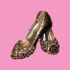Pantofi dama, Marime: 36, Coffee - PANTOFI PLATFORMA, SUPERBI, MARIMEA 37