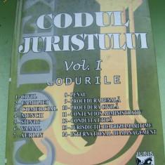 CODUL JURISTULUI CONSTANTIN CRISU VOL, 1 - Carte Jurisprudenta