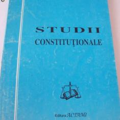STUDII CONSTITUTIONALE - Ioan Muraru - Carte Drept constitutional