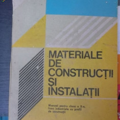 MATERIALE DE CONSTRUCTII SI NSTALATII - Carti Constructii