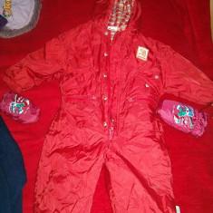 Haine Copii 1 - 3 ani - Salopeta de iarna groasa fas impermeabil captusit mas 86 cm fermoar si capse..cadou manusi asortate
