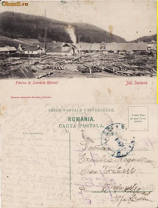 Fabrica de lemnarie Gainesti (Suceava, Bucovina) foto mare