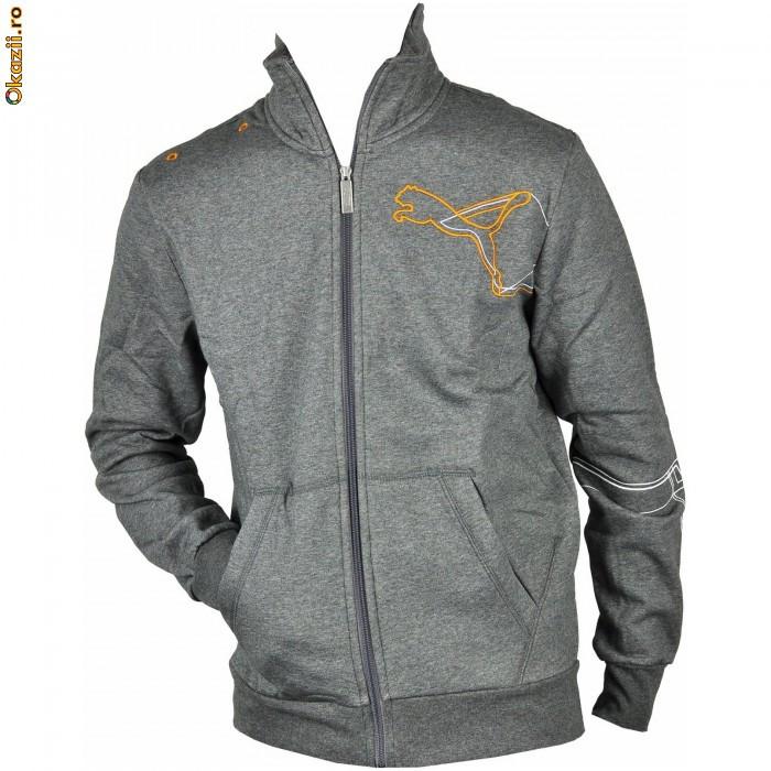 Hanorac barbati Puma Graphic Sweat JKT Fleece 81395107-5650 Marime XL foto mare