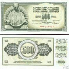 bnk bn iugoslavia 500 dinari 1981 unc