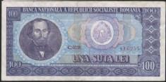 Bancnote Romanesti - Romania bancnota 100 Lei 1966 portret Balcescu