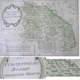 * Harta Reilly Moldova - Nord 1789 - autentica