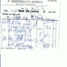 Hartie cu Antet - Doc.73 -P.Andreescu Fii, Craiova - Sectia Fierarie -nedatat
