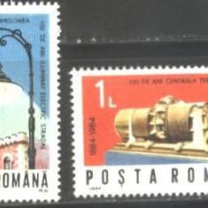 Romania 1984 - ILUMINATUL ELECTRIC STRADAL TIMISOARA, serie MNH KJ269 - Timbre Romania, Nestampilat