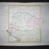 * Harta CLOUET - Royaume de Hongrie - 1785 - autentica